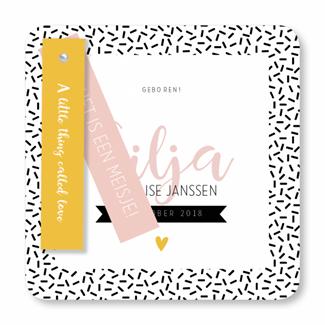 Geboortekaartje Geboortekaart - Silja