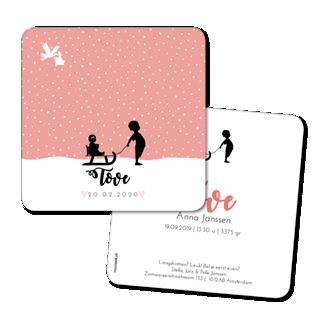 Geboortekaartje Geboortekaart - Tove