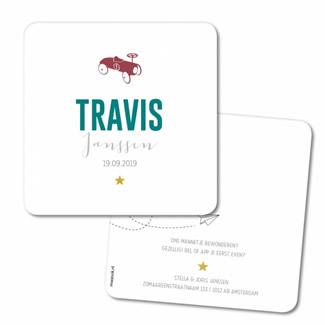 Geboortekaartje Geboortekaart - Travis