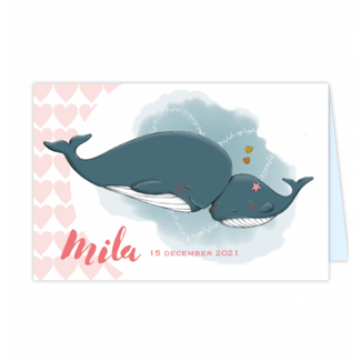 Geboortekaartje Geboortekaart Walvis