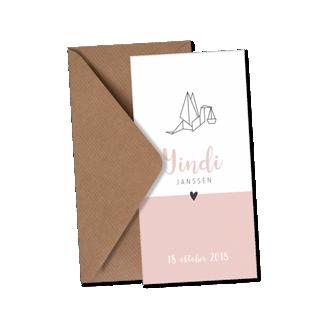 Geboortekaartje Geboortekaart - Yindy