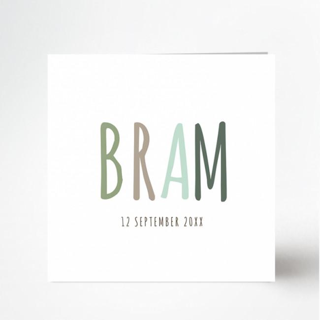 Geboortekaartje Geboortekaartje Bram