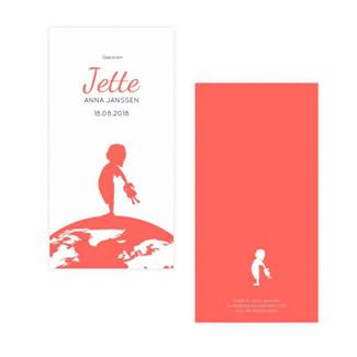 Geboortekaartje geboortekaartje - Jette