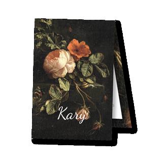 Geboortekaartje Geboortekaartje label Kary