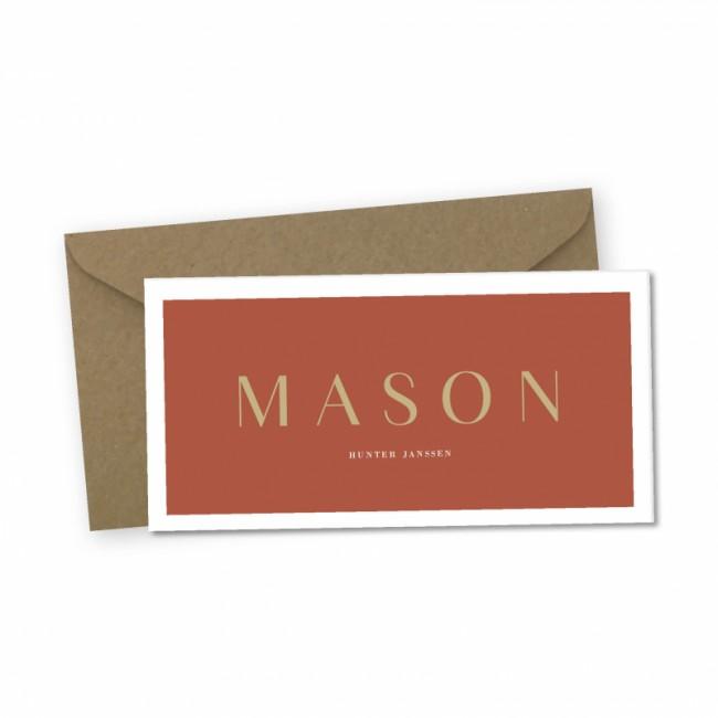Geboortekaartje Geboortekaartje Mason