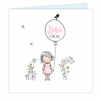 Geboortekaartje Geboortekaartje meisje