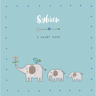 Geboortekaartje Geboortekaartje Olifanten