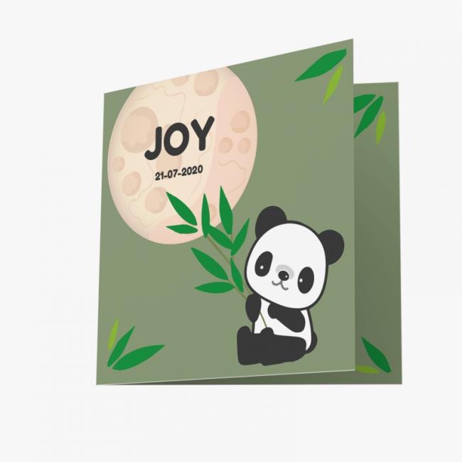 Geboortekaartje Geboortekaartje pandabeer