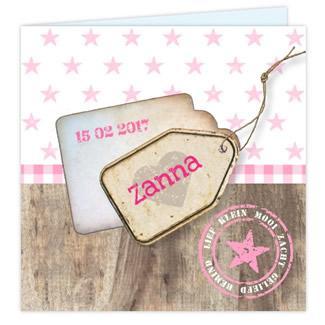Geboortekaartje geboortekaartje sloophout