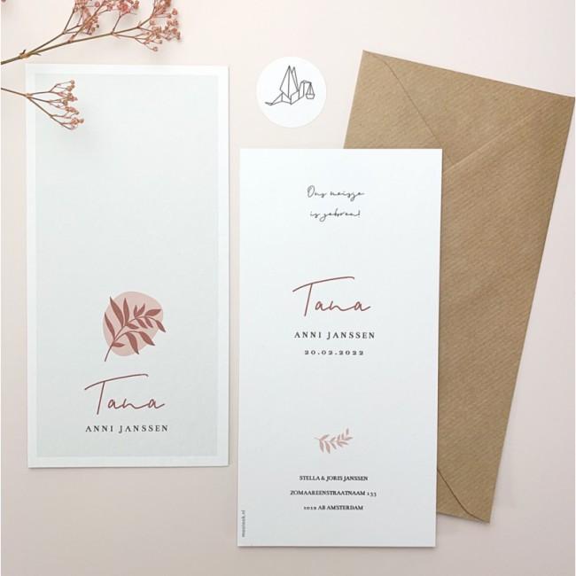 Geboortekaartje Geboortekaartje Tana