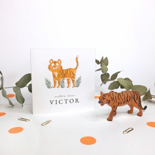 Geboortekaartje Geboortekaartje tijger