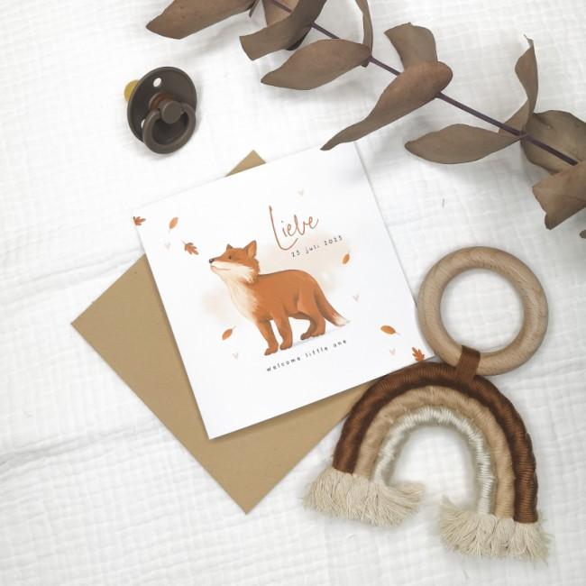 Geboortekaartje Geboortekaartje vos