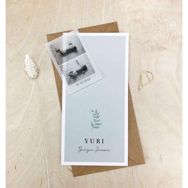 Geboortekaartje Geboortekaartje Yuri folie