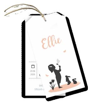Geboortekaartje Geboortelabel - Ellie