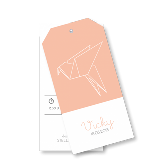 Geboortekaartje Geometrisch Labels Vicky