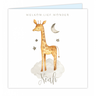 Geboortekaartje Getekende Giraffe