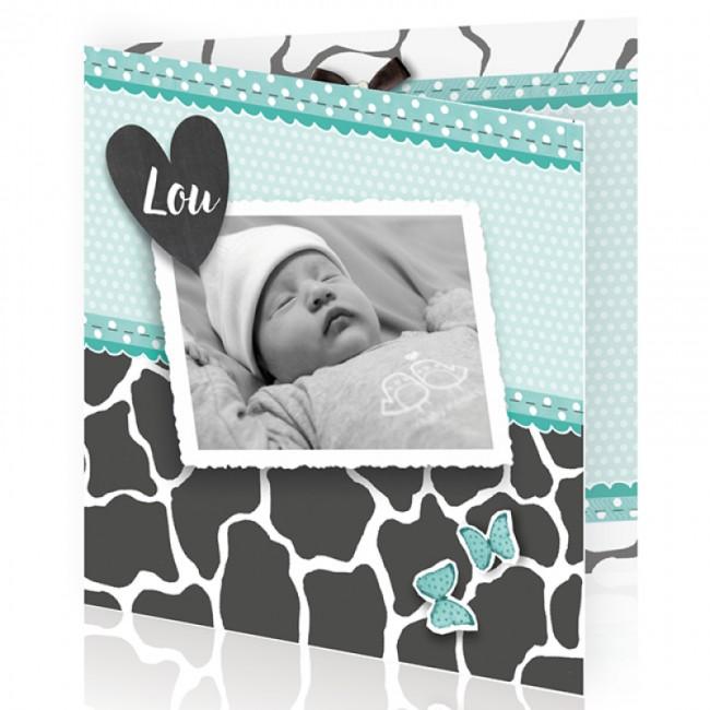 Geboortekaartje Giraf print en foto