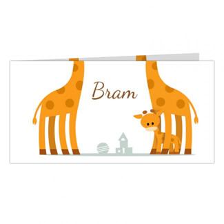Geboortekaartje giraffe