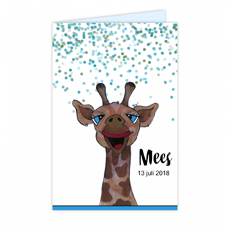 Geboortekaartje Giraffe Geboortekaartje