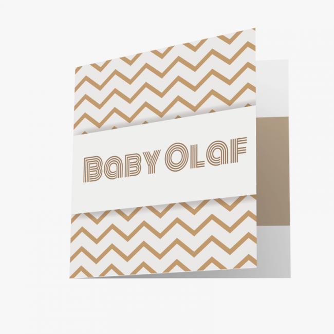 Geboortekaartje Gouden kaart met vormen