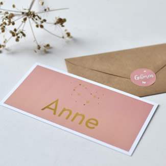 Geboortekaartje Goudfolie sterren | Anne