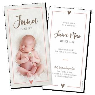 Geboortekaartje Grote foto en kader