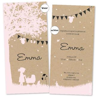 Geboortekaartje Gupje Emma