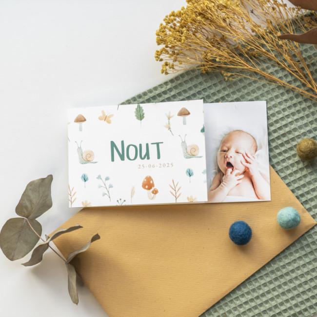 Geboortekaartje Herfst en foto