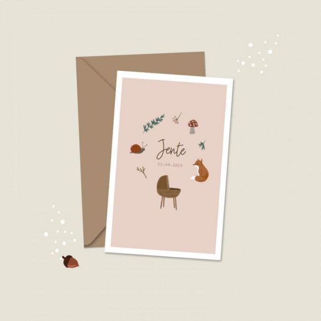 Geboortekaartje Illustratief herfst