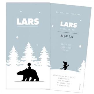 Geboortekaartje jongen op ijsbeer