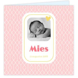 Geboortekaartje kaartje foto & dessin