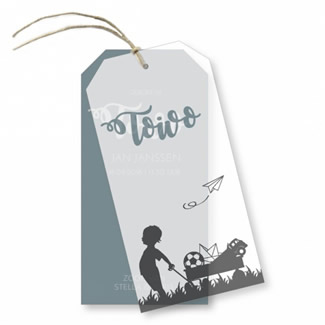Geboortekaartje Kalklabel - Toivo