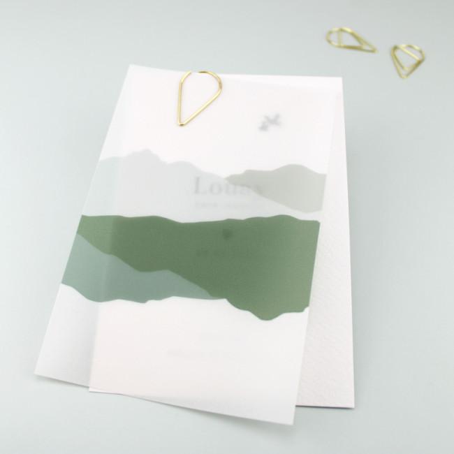 Geboortekaartje Kalkpapier jongenskaartje