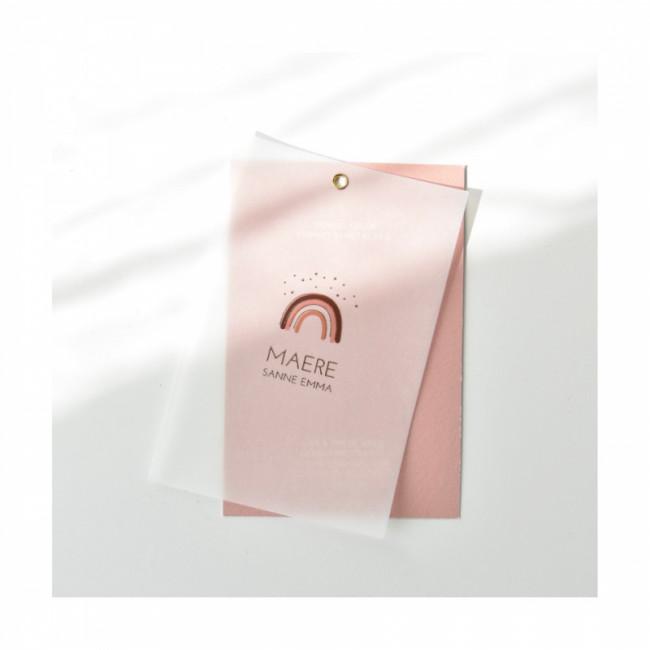Geboortekaartje Kalkpapier met goudfolie
