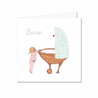 Geboortekaartje Kindje in een wiegje