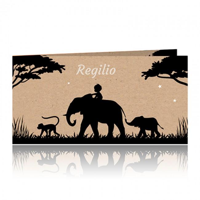 Geboortekaartje kindje op olifant