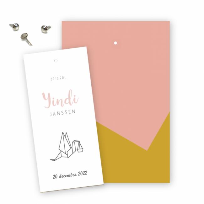 Geboortekaartje Klembord kaart Yindi