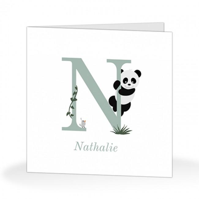 Geboortekaartje klimmende panda