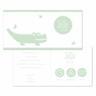 Geboortekaartje Krokodil jongen