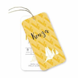 Geboortekaartje Label kaart - Kenza