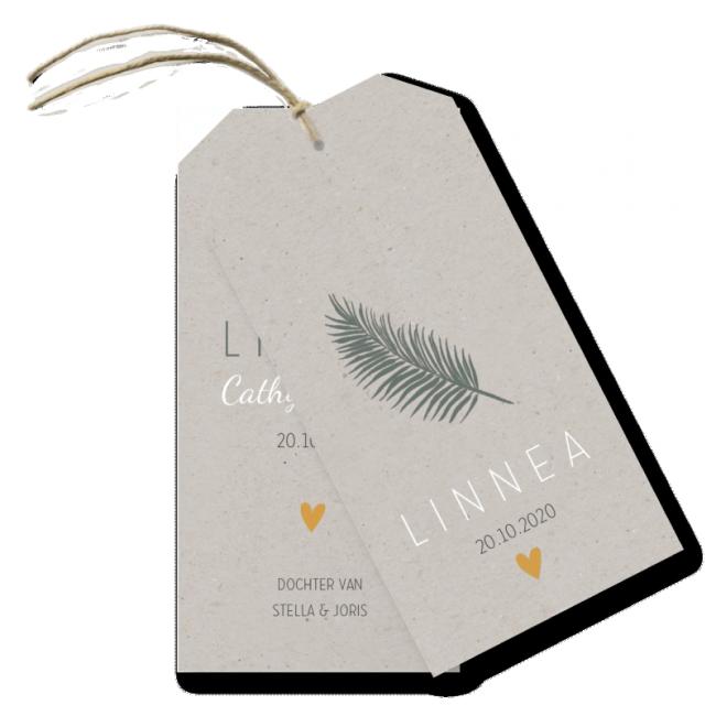 Geboortekaartje Label kaart - linnea
