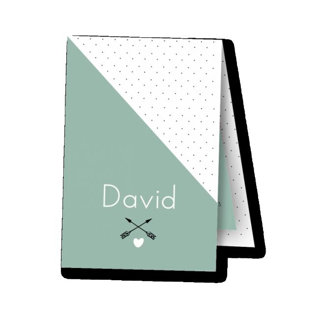 Geboortekaartje label kaartje - David
