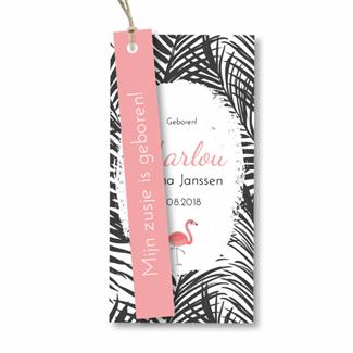 Geboortekaartje Label kaartje - Marlou