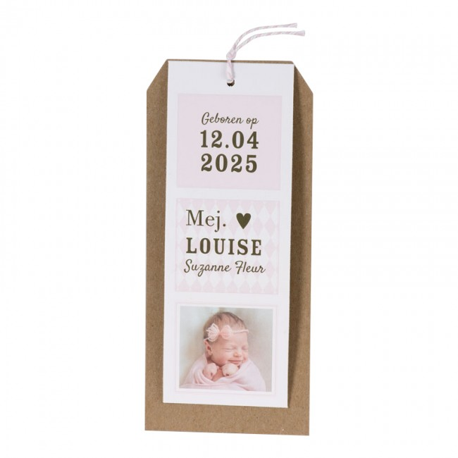 Geboortekaartje Labels geboortekaartje