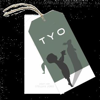 Geboortekaartje Labels Tyo