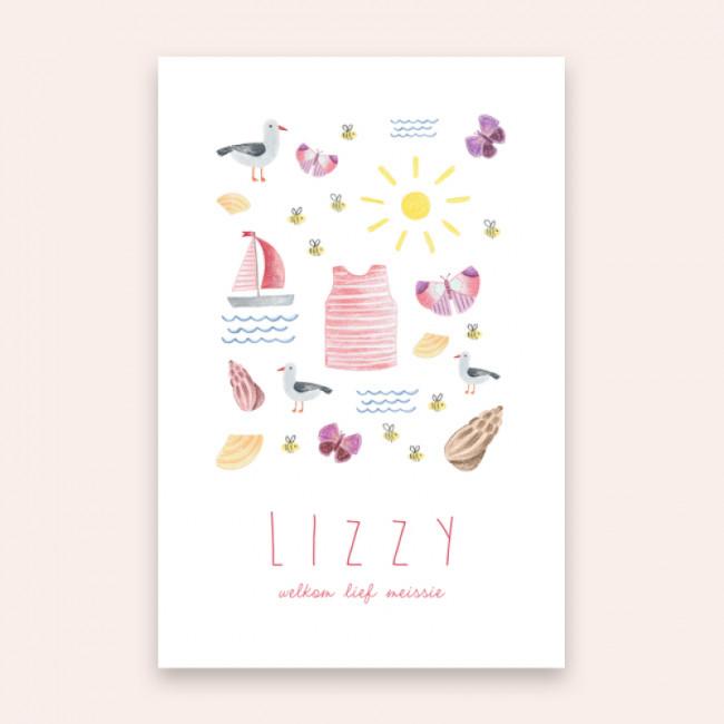 Geboortekaartje Lizzy