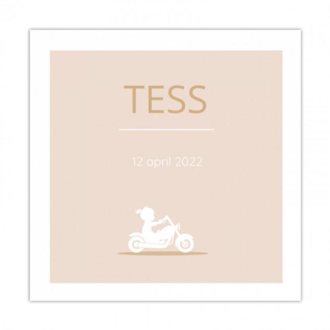 Geboortekaartje Meisje op motor
