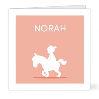 Geboortekaartje Meisje op paard