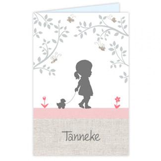 Geboortekaartje Meisjeskaartje takjes