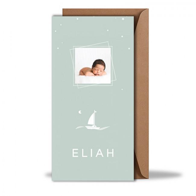 Geboortekaartje met foto langwerpig